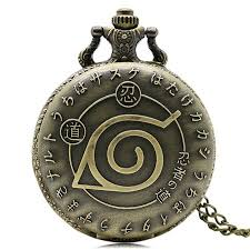 necklace pendant watch images Hot anime naruto vintage leaf figure pocket watch for men jpeg