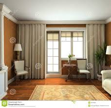 3d render classic interior of living room royalty free stock image