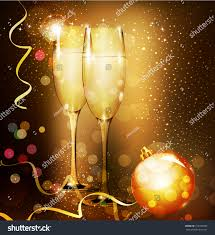 holiday cocktails background christmas holiday background two glasses champagne stock