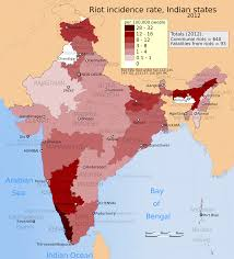 India Map Of States by File 2012 Riots Incidence Rates Per 100000 Map For India Its