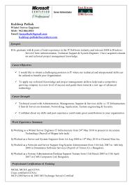 Network Administrator Resume Sample Resume For Server Administrator Free Resume Example And Writing