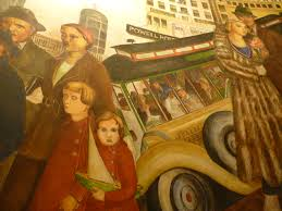 Coit Tower Murals Diego Rivera by Coit Tower Part Ii Glancing Blows