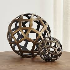 How To Make Decorative Balls Geo Decorative Metal Balls Crate And Barrel