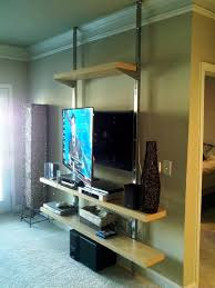 Wall Mounted Entertainment Shelves How To Create A Floor To Ceiling Tv Entertainment Center Tv