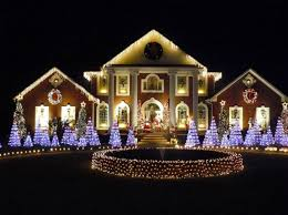 christmas decorations light show mansions decorated outdoors ville de stanstead christmas