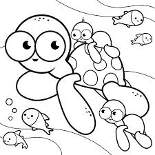 la famille tortue en coloriage à imprimer magicmaman com