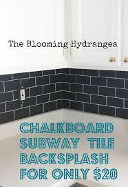 cheap kitchen backsplash alternatives chalkboard subway tile backsplash for less than 20 chalkboard