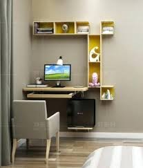 Small Wall Desk Hanging Wall Desk Desk Workstation Office Wall Furniture Hanging