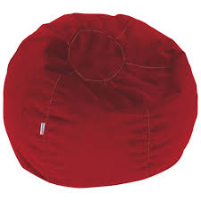 Red Leather Bean Bag Chair Comfy Kids Polyester Teen Bean Bag Red Kids U0026 Teens Chairs