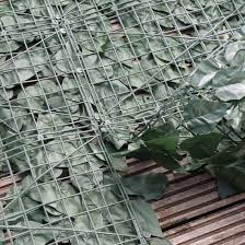 artificial ivy leaf hedge panels on a roll privacy screening by