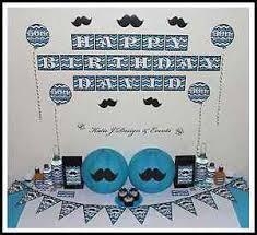 21st Party Decorations Moustache Blue Mens Boys Birthday Bucks 1st 18th 21st Party