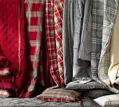 blake plaid duvet cover u0026 sham pottery barn