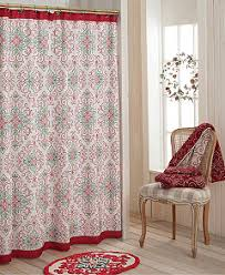 Shower Curtains With Red Bardwil Lenox French Perle Groove Holiday Bath Accessories