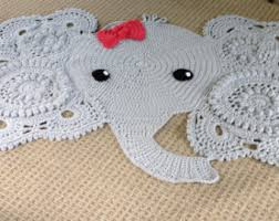 Rugs For Baby Rooms Crochet Elephant Rug Etsy