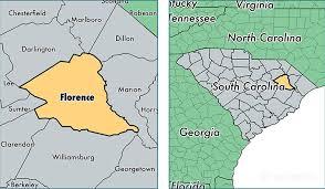 carolina world map florence county south carolina map of florence county sc