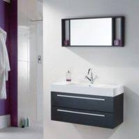 Floating Vanity Plans Bathroom Black Wooden Tall Floating Cabinet With Door With Wall