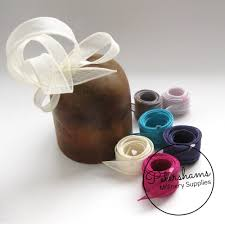 ribbon trim rolled sinamay ribbon trim petershams millinery supplies