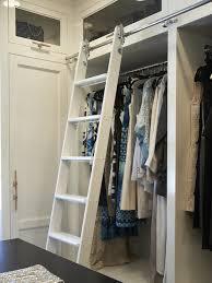 Sliding Bookshelf Ladder Cabinet With Ladder Rail Design Ideas