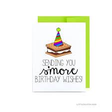 summer birthday greeting card pun puns smore card