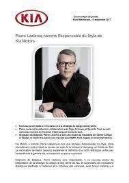 bureau leclercq leclercq nommé responsable du style de kia am today