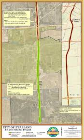 harris county toll road map sh 288 initiatives city of pearland tx