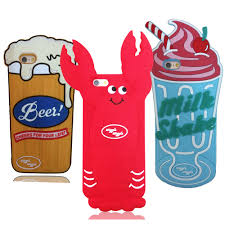 cartoon beer cheers 3d cartoon lobster beer milkshake soft silicone back cover for