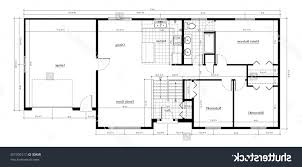 home design split level house floor plan with room names stock