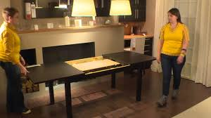 ikea black brown dining table bjursta table ikea home tour youtube