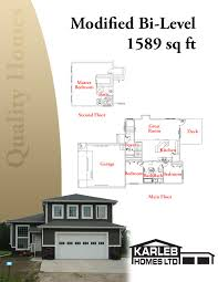 bi level home plans modified bi level 1589 sq ft plans my home ideas