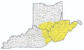 Va County Map Ohio And West Virginia Map Virginia Map