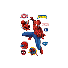 amazing spider man wall decals groovy kids gear spiderman webslinger wall decal