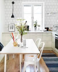 kitchen scandinavian kitchen ideas with chic marble backsplash