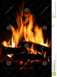 fire in fireplace stock photo image 3506100