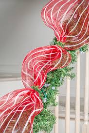 Banister Decorations For Christmas Classic Red U0026 White Christmas Decorating Diy House Help