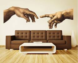 Home Wall Decor Michelangelo Hands Decal Home Wall Decor Modern And Unique
