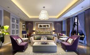 luxurious purple bedroom with sofa download 3d house