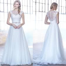 new arrival lace wedding dresses 2016 tulle garden appliques beads