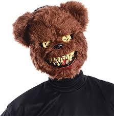 scary mask brown scary teddy mask clothing