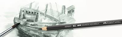 faber castell water soluble pencil graphite aquarelle 4b