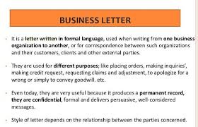 Letter Meaning In meaning of commercial letter business letter