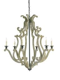 Currey Lighting Fixtures Currey And Company 9636 Durand Six Light Chandelier Iron