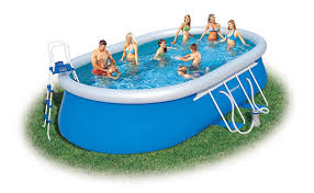 Garten Pool Aufblasbar Bestway 56153 Oval Fast Set Pool Set Mit Filterpumpe Zubehör