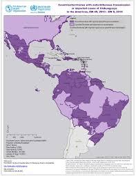 America Latina Map by Paho Who Chikungunya Geographic Distribution Paho Who Data