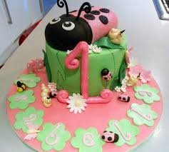 pink ladybug first birthday cake for baby jpg hi res 720p hd