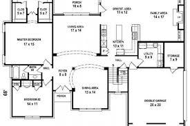 Home Plans 5 Bedroom 654206 5 Bedroom 4 Bath House Plan House Plans Floor 4 Bedroom