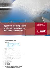 basf injection molding defects pdf casting metalworking melting