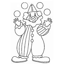 circus clown coloring pages