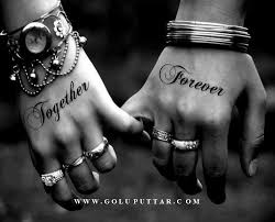 cute love couple tattoo on hands goluputtar com