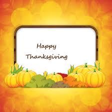 free vector pumpkin around happy thanksgiving frame vector
