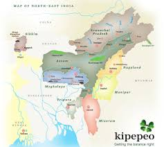North India Map by About North East Kipepeo